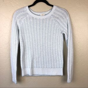 J. Crew Baby Blue Knit Sweater